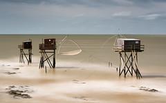 Fishing-Cabins- (petefoto) Tags: fishing cabins france sea filters sand nikond810 longexposure leefilters bwfilter seascape