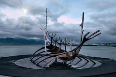Setting Sail (singulartalent) Tags: d810 iceland markhigham reykjavik sculpture skies stormy theboat