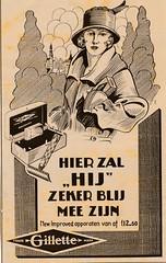de stad Amsterdam 1923 adv Gilette (janwillemsen) Tags: advertising amsterdam 1923 magazineillustration
