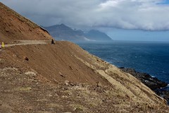 An Icelandic road (Svava Tora) Tags: driving alone danger blue brown mountain sea travel iceland road