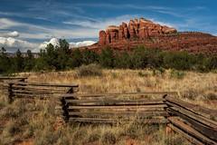 Sedona Vibes (jackielynn831) Tags: sedona redrocks arizona landscape nature fence grasslands nikon