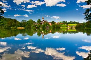 Höglwörth lake and monastery, Upper Bavaria