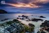 Lucha de tormentas (Andres Breijo http://andresbreijo.com) Tags: amanecer sunrise playa beach mar sea nerja axarquia malaga andalucia españa spain rocas rocks