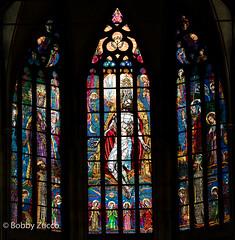 St. Vitus Cathedral Katedrála Sv. Víta glass (ZUCCONY) Tags: 2018 europe prague praguecastle hlavníměstopraha czechia cz yesstreetart bobby zucco bobbyzucco pedrozucco art mural st vitus cathedral katedrála sv víta