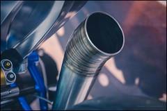Loud pipe (G. Postlethwaite esq.) Tags: bmwr9t birmingham dof nec sonya7mkii beyondbokeh bokeh closeup depthoffield exhaustpipe fullframe megaphone motorcycleshow photoborder selectivefocus