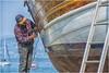 we are preparing for summer ... man at work ...  ( 1 ) (miriam ulivi - OFF /ON) Tags: miriamulivi nikond7200 italia liguria sestrilevante uomoallavoro manatwork leudo mare sea imbarcazioni boats baiadellefavole litorale coast streetphotography stphotographia