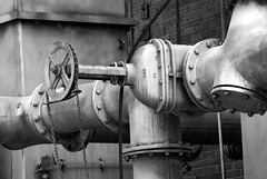 TUBING B&W (Vasiman) Tags: machinery pipes pentaxk10d takumar35mm pentaxart bw industrial factory pentaxflickraward jupiter jupiter11