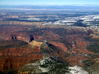 somewhere over the Grand Canyon