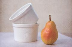 (glendamaree) Tags: pear texture stilllife fruit bowls textured