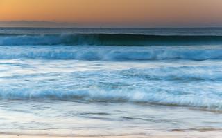 Sunrise Seascape and Waves