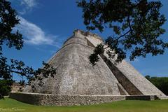 """Pyramid of the dwarf"" / ""Пирамида карлика"" (Vladimir Zhdanov) Tags: travel mexico ruins maya uxmal pyramid architecture sky cloud tree grass yucatan"