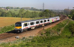New Colour scheme at Brantham (Chris Baines) Tags: greater anglia refurbished 321 with graffiti