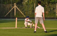 Cricket at Marlow (philbarnes4) Tags: youth cricket marlow buckinghamshire england bat batting pitch philbarnes nikond5500 wicket team sport summer crouching helmet protection enthusiasm skill match game runs batsman grandson