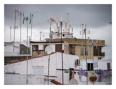 Triana roofscape in the rain (AurelioZen) Tags: europe spain andalusia sevilla triana roofscape antennas