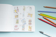 daily doodle... (CatMacBride) Tags: daily doodle drawing food packaging pencils art