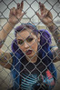 Don't fence me In (Luv Duck - Thanks for 12M Views!) Tags: select teresa beautiful model modeling bladerunner bluehair greeneyes purplehair fence alaskangirls anchoragegirls tattoo girlswithtattoos tattoos