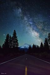 Night at Shasta (dheera.net) Tags: shasta mountain california snow winter usa fuji road astrophotography astronomy milky way galaxy milkyway long exposure longexposure stars night landscape distagont228