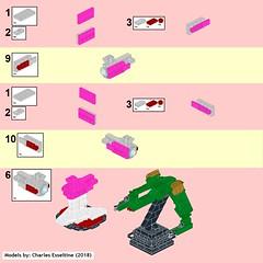 Star Trek Ships page (08) (origamiguy1971) Tags: bluebrint startrek star trek lego esseltine enterprise klingon reliant kahn tos movie moc instructions