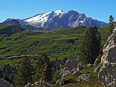 Marmolada from above Sella pass (Vid Pogacnik) Tags: italy italia dolomiti dolomites outdoors hiking landscape mountain marmolata marmolada marmoleda