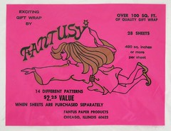Vintage FANTUSY Gift Wrap Label - Fantus Paper Products, Chicago - 1960s (hmdavid) Tags: vintage mod 1960s fantusy gift wrap label package wrapping paper chicago fairy fantus design