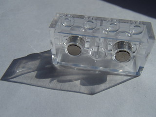 LEGO: Transparent magnet brick?