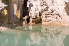 IMG_1545 (PyL06) Tags: fontana fontaine quattro fiumi quatre fleuves piazza navona place navone rome roma italie italia sculpture statue lion eau water reflet