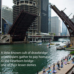 A little-known cult of drawbridge worshippers gather to pay homage to the Dearborn bridge - one of their lesser deities (Jim Frazier) Tags: meme q3 chicagoriver 2018 20180519bridgelift architectural architecture art bascule boatrun boats bridgelift bridgerun bridges buildings chicago chicagoriverbridges city crossings cult downtown drawbridge equipment fixedtrunnion il illinois infrastructure jimfraziercom loop machinery machines marine maritime may nautical people pod river sailboats ships spans spring structures transportation trunnion urban water worship yachts yoga f10