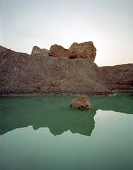Morocco Moonpool (leeburnett_) Tags: mamiya 7ii 65mm morocco safi surreal surrealist water nature mediumformat portra 400 colours blue teal