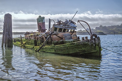 Mary D. Hume (HSS) (buffdawgus) Tags: themarydhume oregoncoast oregon therogueriver goldbeach lightroom6 topazsw seascape oldboat canonef24105mmf4lisusm canon5dmarkiii currycounty marydhume abandoned weathered derelict