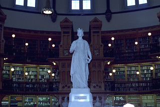 Queen Victoria in the Library of Parliament