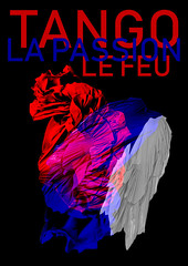 French Tango (Fierceham) Tags: graphic graphicdesign tango french france flag dress fire passion tricolour