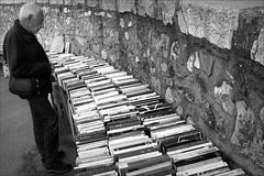 the books of the old testament (bostankorkulugu) Tags: oldman man coted'azur frenchriviera france antibes fleamarket market books book