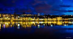 Ribeira / Rio Douro (lucascobos) Tags: water sky dusk skyline sunset porto portugal rio douro river ribeira blue landscape