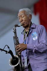 Kidd Jordan at the New Orleans Jazz and Heritage Festival on Sunday, April 29, 2018