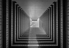 Squared monochrome - Hongkong 135/188 (*Capture the Moment*) Tags: 2017 architektur atrium estate fenster hauses hochhäuser hongkong häuser innenhof intothesky sky skyscraper sonya7m2 sonya7mark2 sonya7ii sonyfe1635mmf4zaoss sonyfe41635 sonyilce7m2 windows indenhimmel monochrome schwarzweiss