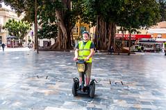 Segway Tours (Tony Shertila) Tags: esp spain cartagena geo:lat=3760200075 geo:lon=098433316 geotagged murcia europe tour tourist segway selfie hivis plaza tree transport