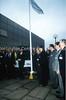 Darlington Partnership launch, flag pole 1998 (Darlington Local Studies Picture Collection) Tags: darlington1990s politicians