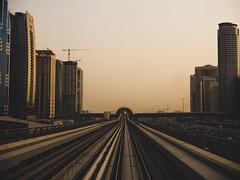 On the tracks (oppisan) Tags: dubai uae united arab emirates panasonic g85 g80 lumix transport train metro travel middleeast arabia