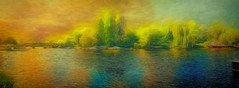 "Downriver glow (Leigh - ""Alive and Clicking!"") Tags: painterly riverthames richmonduponthames leighkemp paintography"