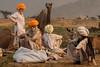 Conversations Pushkar Mela. Rajasthan (Tito Dalmau) Tags: rabaris men camels conversations fair mela pushkar rajasthan india