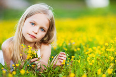 Adorable little girl with yellow flowers (colourfulcreation05) Tags: adorable beautiful caucasian cheerful child cute day dress fresh girl green happy kid little nature outdoors preschooler summer warm white young rural blond field flowers meadow yellow russianfederation