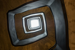 Stairway to infinity (Rayoflightbe) Tags: parijs paris shape curve infinity wavepattern artistic illusion abstract symbol architecture stairs bastilleboutetmgallery hotel