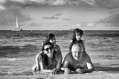 PC 4 (Carlos Pizarro Photography) Tags: beach sea playa puntacana bavaro barcelo bw blanco negro black white familia family