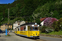 Gotha T57 #6 Kirnitzschtalbahn Bad Schandau OVPS (3x105Na) Tags: gotha t57 6 kirnitzschtalbahn badschandau ovps deutschland niemcy germany strassenbahn strasenbahn tramwaj tram sachsen saksonia