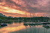 TenbyHarbour2018Sunset (sionesmond) Tags: tenby harbour sunset dusk water reflections boats pembrokeshire wales