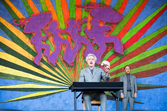 David Byrne at the New Orleans Jazz and Heritage Festival on Sunday, April 29, 201
