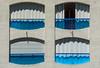 Balconies with blue glass (Jan van der Wolf) Tags: map158240v facade gevel balconies lagrandemotte blue open closes glass glas architecture architectuur shadow schaduw shadowplay four vier 4
