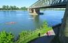 Early summer Sunday at Rhine river in Mainz (barbmz) Tags: mainz rhine rhein sommer summer kanu canoe