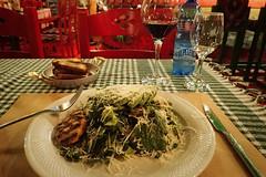Serendipity's @ Tirana (8pl) Tags: assiette plat repas restaurant tirana albanie pain vin verre chaises chaisesrouges nappe nappeàcarreaux couleursvives couleurs eauminerale bouteille bouteilledeau