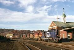 White River Jct, VT (Michael C. Bump Collection) Tags: train trains railroad boston maine central vermont canadian pacific cp rail vt nh new hampshire conn river